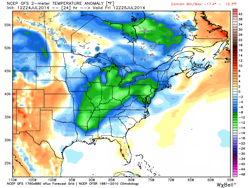 Weather NJ cool air returns GFS