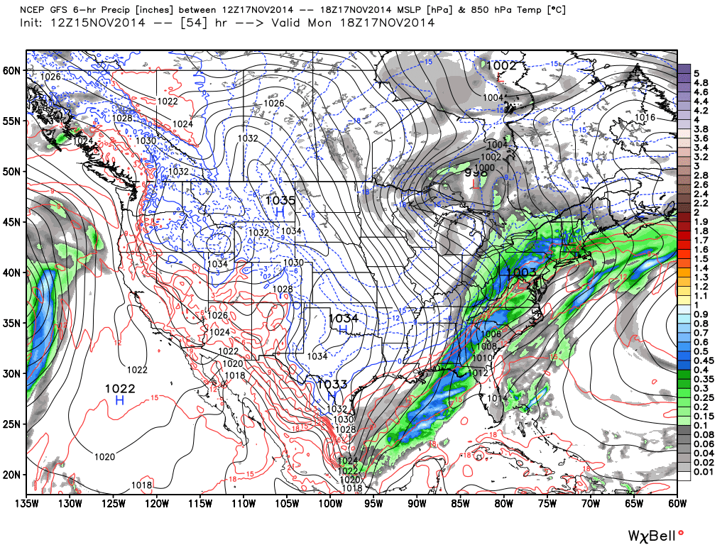 gfs showing rain for new jersey