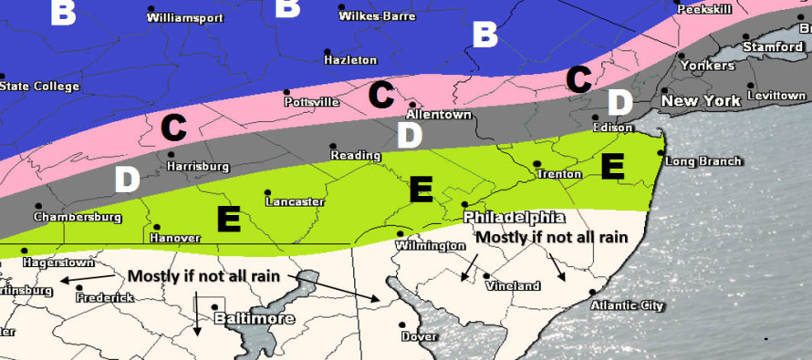 Mar 8: Snow Map for Thursday-Friday