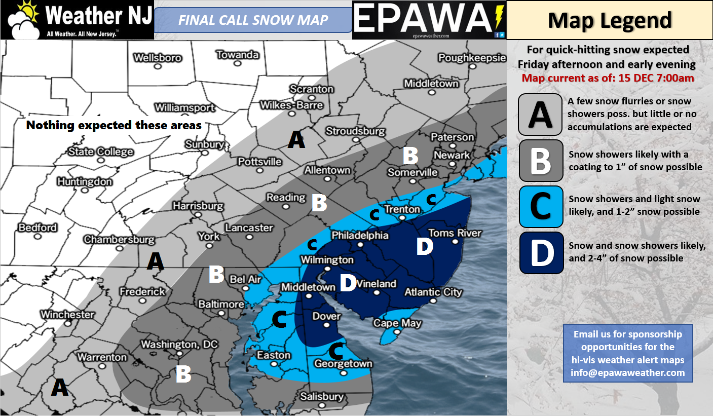Dec 15 Snow Map for Today
